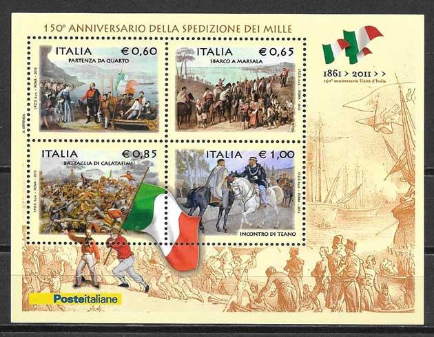 Colección sellos arte Italia 2010