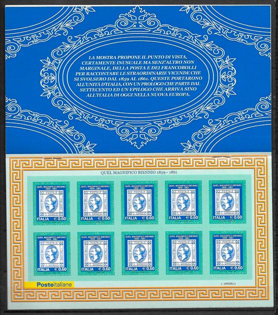 colección sellos personalidad Italia 2011