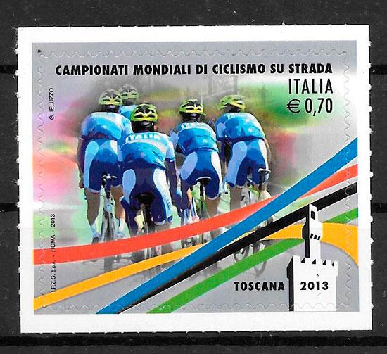 colección sellos deporte Italia 2013