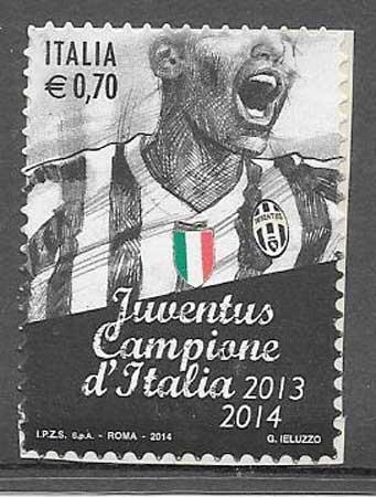 Filatelia Fútbol Italia 2014