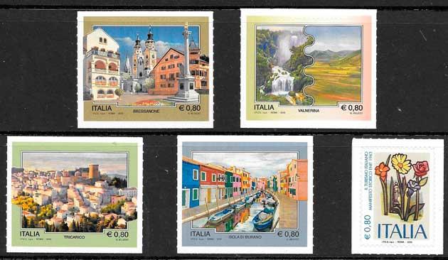 sellos arquitectura y turismo Italia 2015