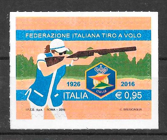 filatelia colección deporte Italia 2016