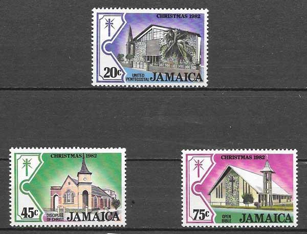 sellos navidad Jamaica 1982