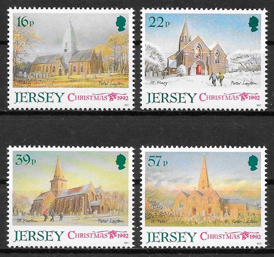 selos navidad Jersey 1992