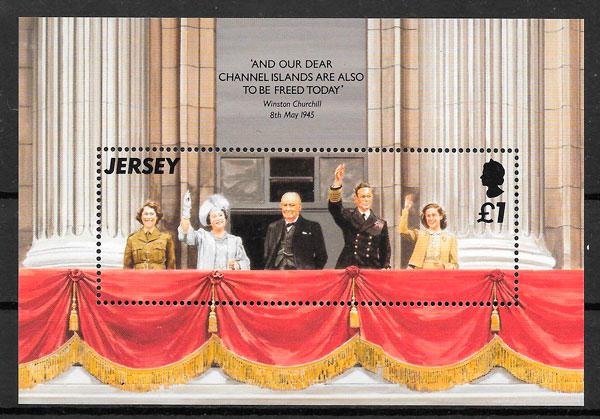 colección sellos personalidades Jersey 1995