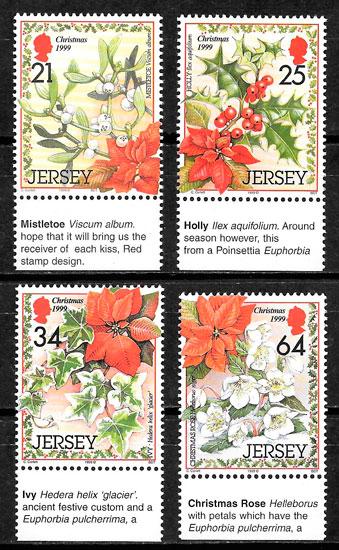 sellos navidad Jersey 1999