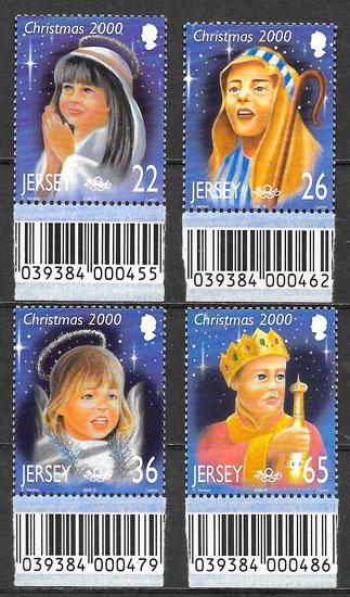 filatelia navidad Jersey 2000