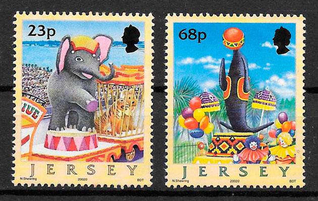 colección sellos arte Jersey 2001
