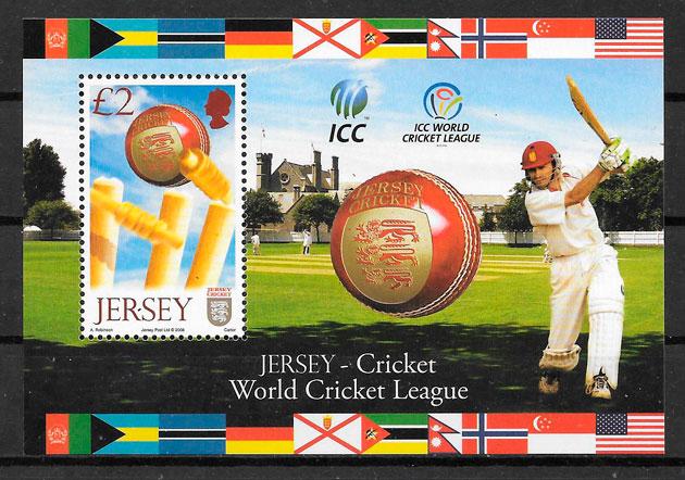 colección sellos deporte Jersey 2008