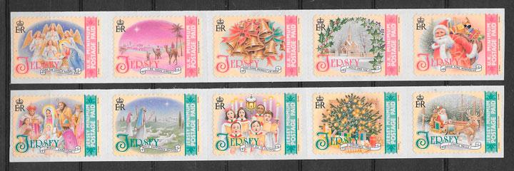 colección sellos navidad Jersey 2008
