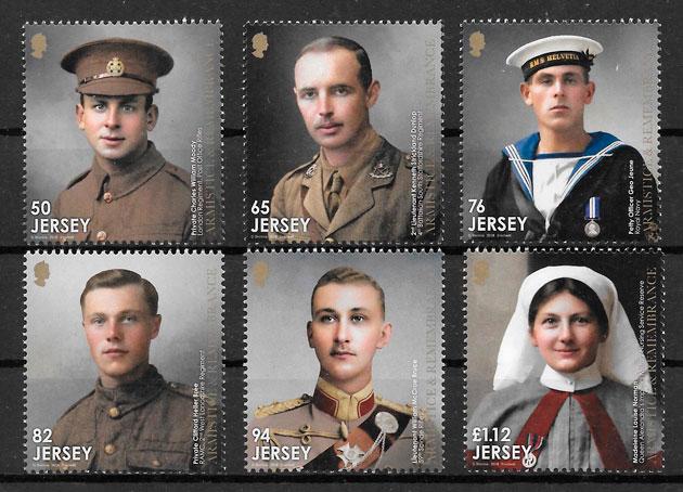 colección sellos personalidades Jersey 2018