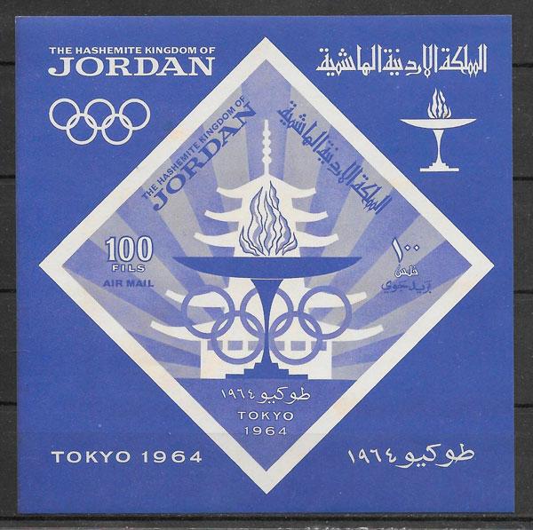 sellos deporte Jordania 1964