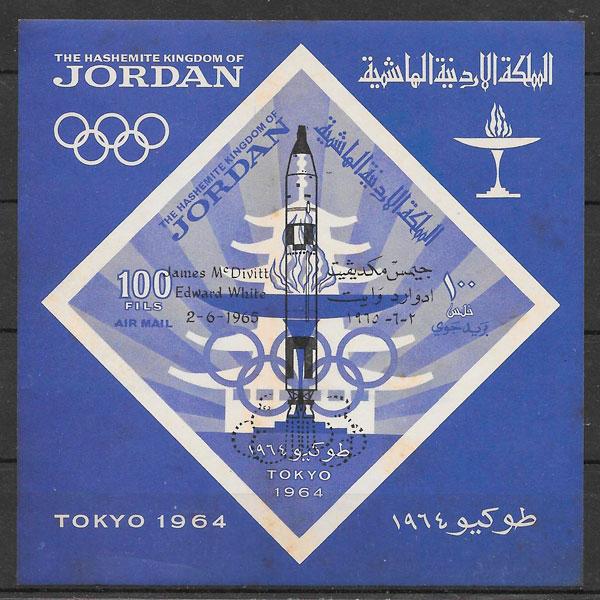 sellos espacio Jordania 1965