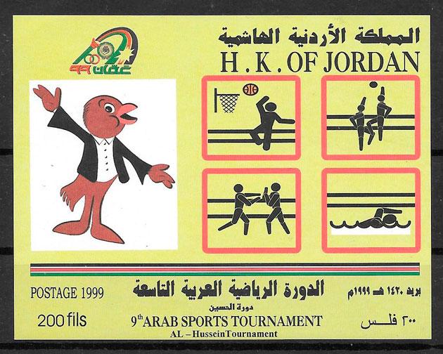 colección sellos deporte Jordania 1999