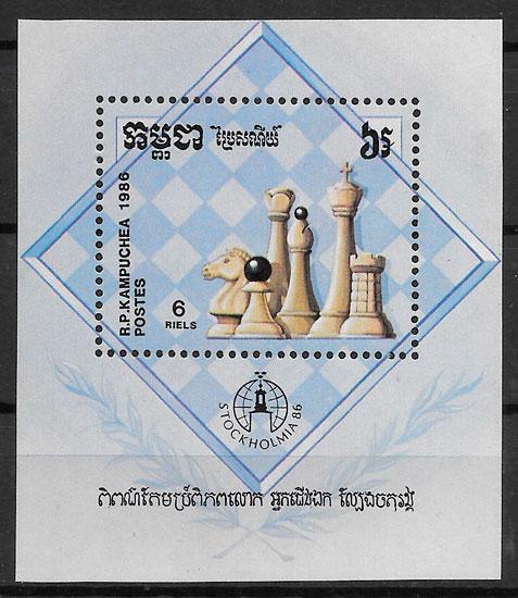 sellos deporte Kampuchea 1986