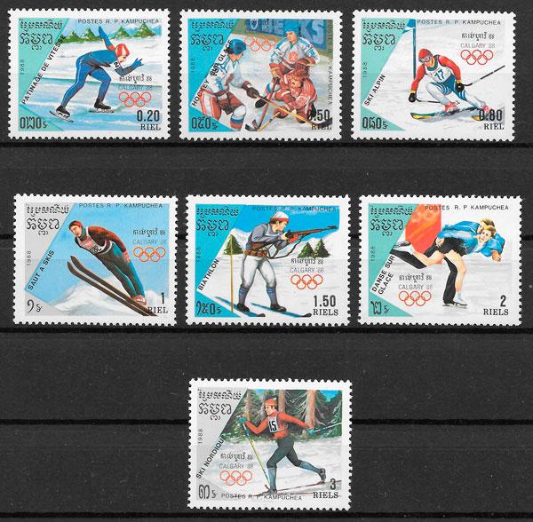 selos deporte Kampuchea 1988