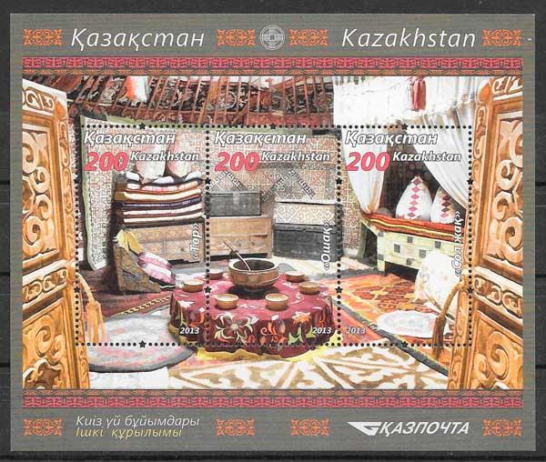 filatelia colección arquitectura Kazastán 2013