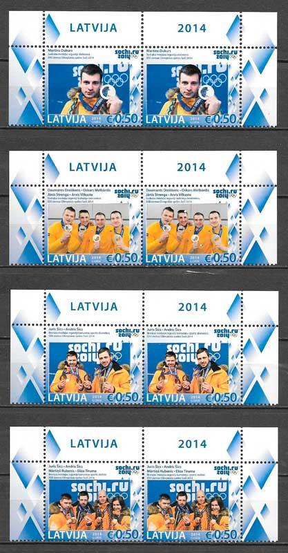 sellos deporte Letonia 2014