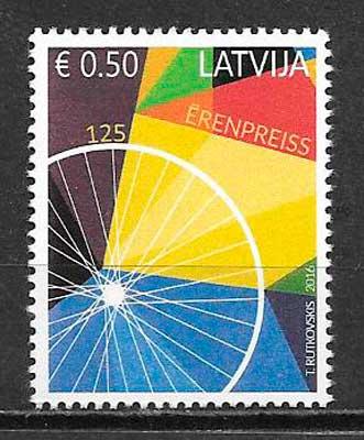 filatelia transporte Letonia 2016