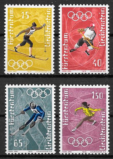 filatelia deporte Liechtenstein 1971