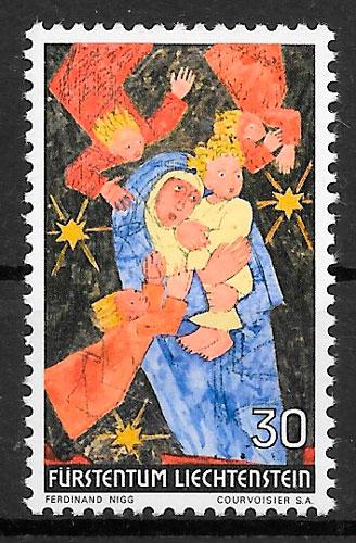 filatelia navidad Liechtenstein 1972