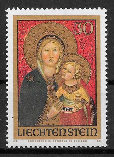 colección sellos navidad Liechtenstein 1973