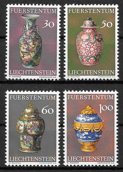 ´colección sellos arte Liechtenstein 1974