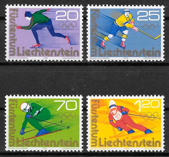 sellos deporte Liechtenstein 1975