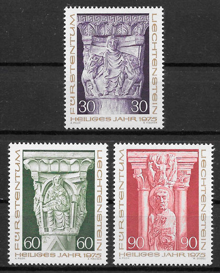 sellos navidad Liechtenstein 1975