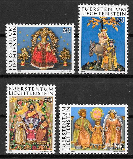 filatelia colección navidad Liechtenstein 1976
