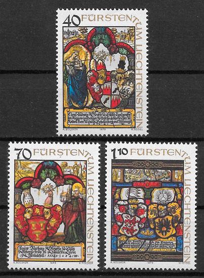 sellos arte Liechtenstein 1979