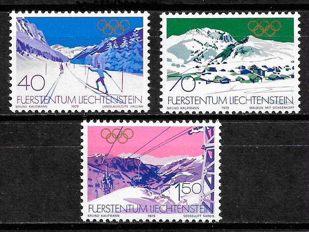 sellos deporte Liechtenstein 1979