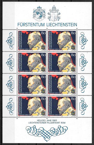 filatelia colección personalidad Liechtenstein 1983- ad