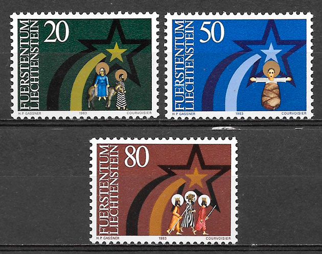 sellos navidad Liechtenstein 1983