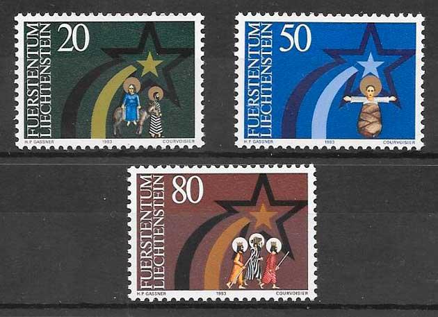 colección sellos navidad Liechtenstein 1983