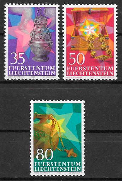 sellos navidad Liechtenstein 1985