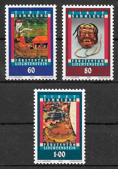sellos arte Liechtenstein 1993