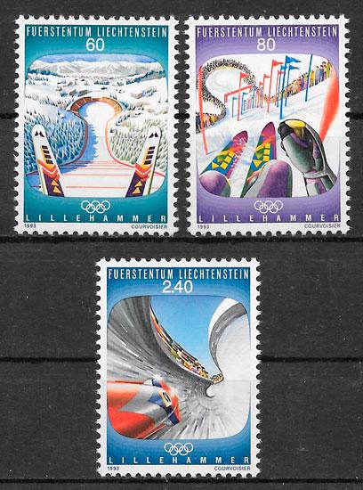 filatelia colección deporte Liechtenstein 1993