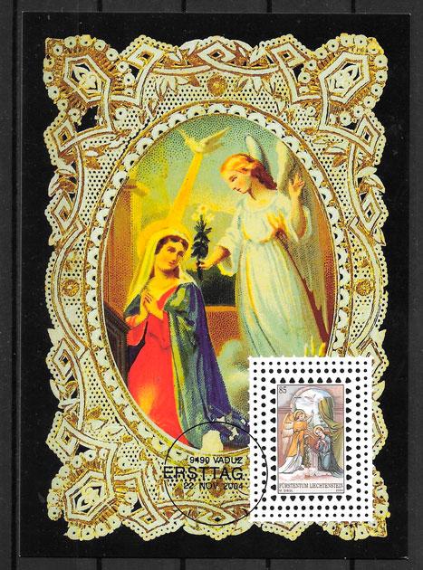 sellos navidad Liechtenstein 2004