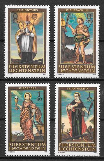 filatelia arte Liechtenstein-2005