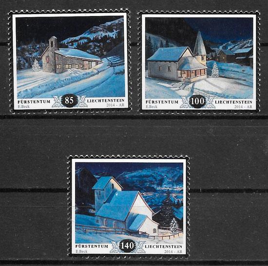 filatelia colección navidad Liechtenstein-2014