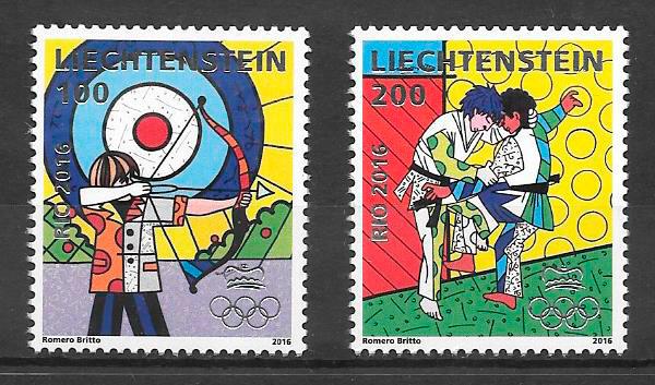 sellos deporte Liechtenstein 2016