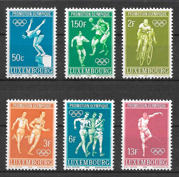 filatelia deporte Luxemburgo 1968