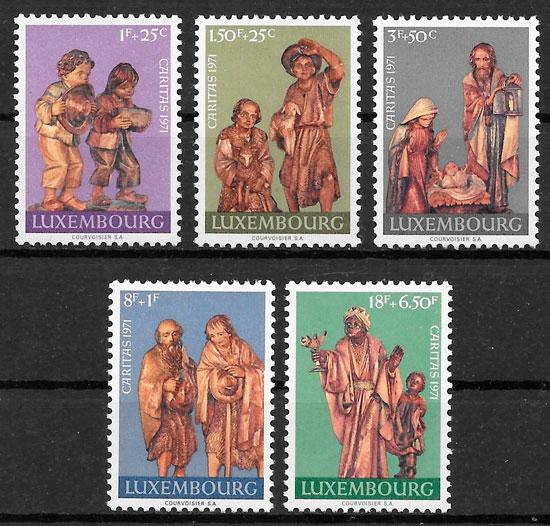 colección sellos arte Luxemburgo 1971