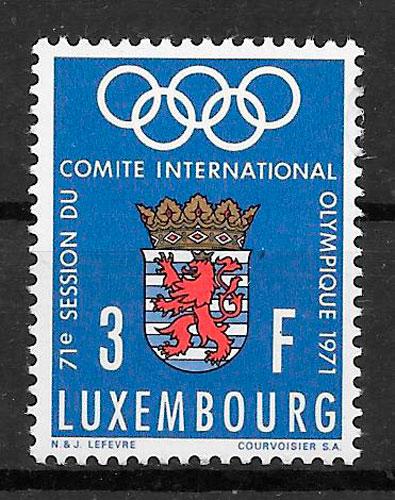 filatelia deporte Luxemburgo 1971