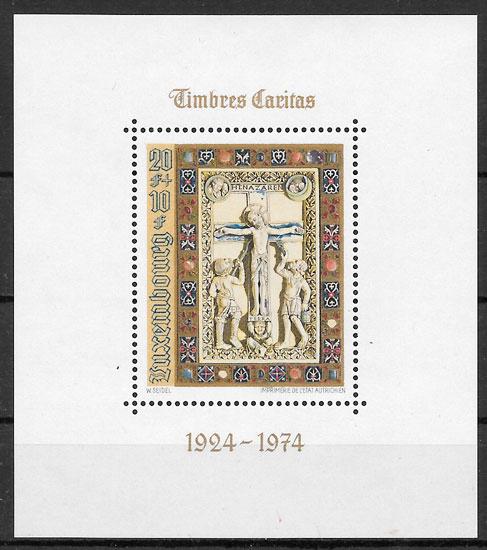 sellos arte Luxemburgo 1974