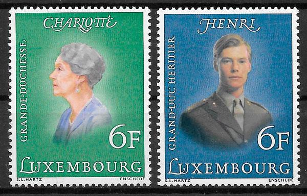 colección sellos personalidad Luxemburgo 1976
