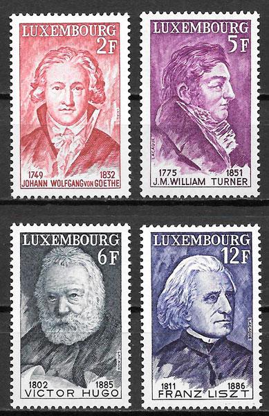 colección sellos personalidad Luxemburgo 1977