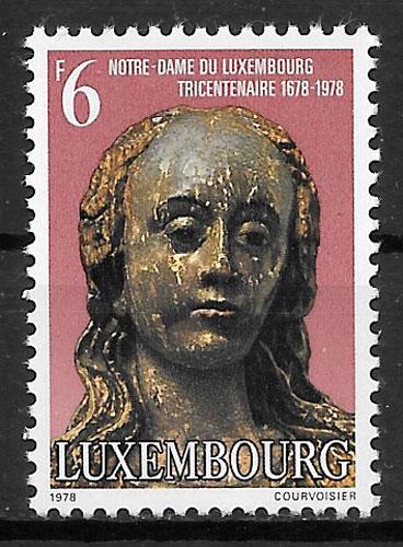 colección selos arte Luxemburgo 1978
