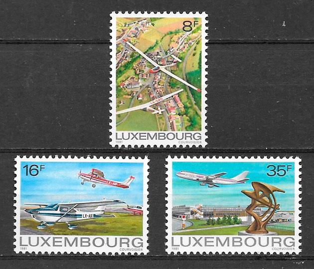 sellos transporte Luxemburgo 1981